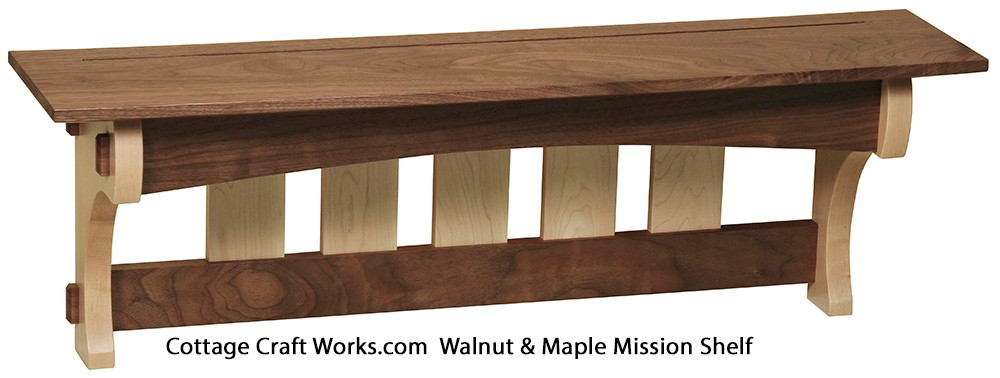 Stunning 36quot Mission Coat Rack And Wall Shelf