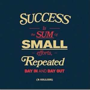The Sum of Small Efforts, Repeated….