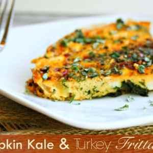 Paleo Pumpkin Kale and Turkey Frittata