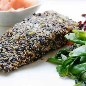 Sesame Crusted Asian Style Salmon Recipe {Gluten Free}