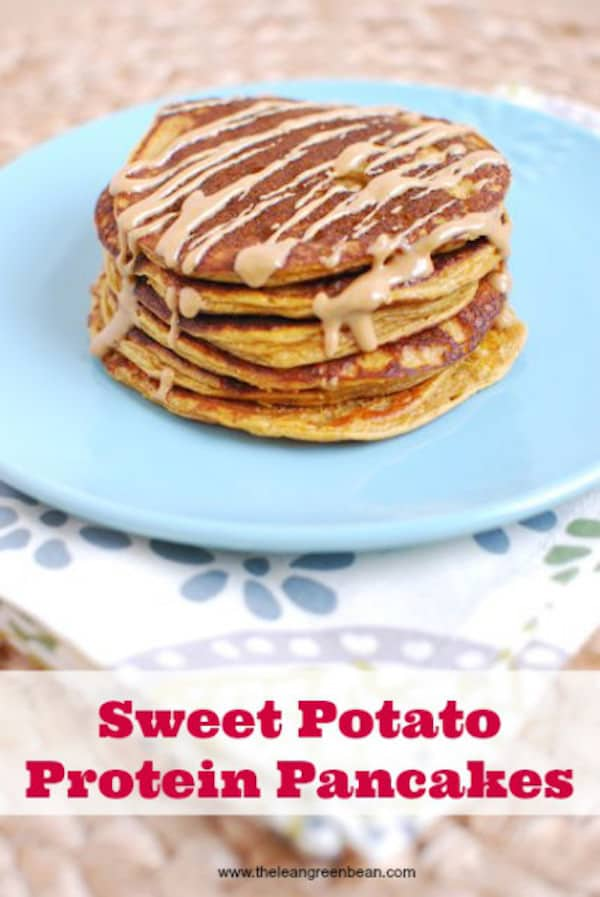 17. Lean Green Bean Sweet Potato Pancakes