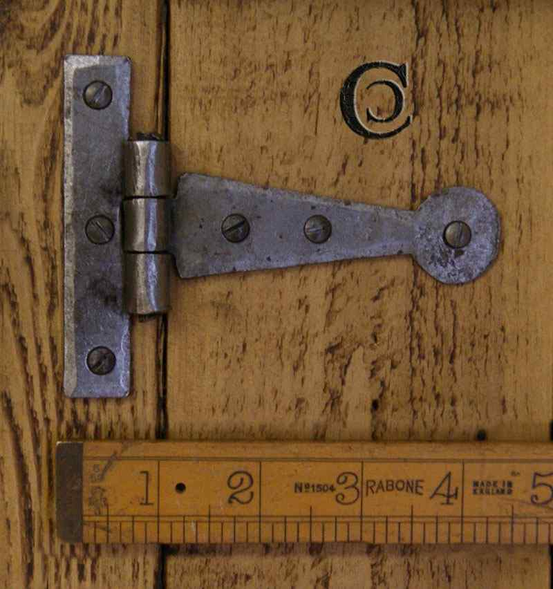 Tee Hinge Light Duty Penny End Hand Forged 4quot Antique Iron