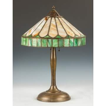 Handel Leaded Arts & Crafts Panel Lamp