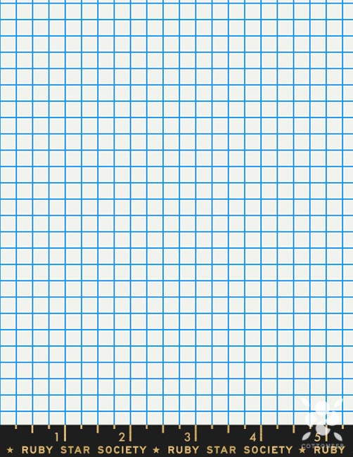 PREORDER Grid in Graph Paper Anagram by Kim Kight Cottoneer Fabrics