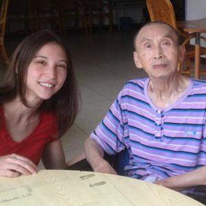Visiting Dad in 2012 at his Veterans Nursing Home in Taiwan