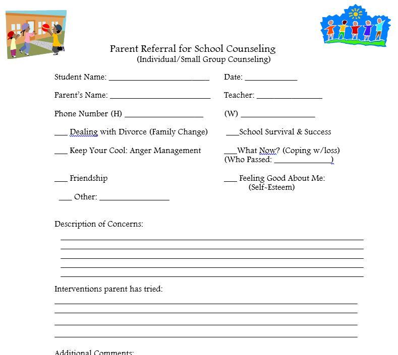 General  Parent Referral Form