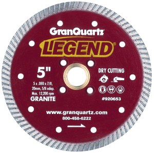 granite cutting diamond Legend Turbo Blades by Granquartz