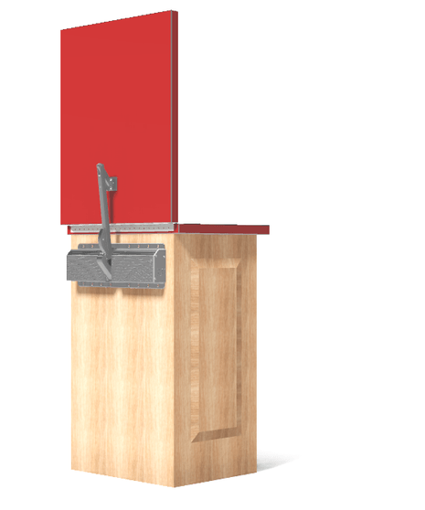 Hinged Counter Tops : Counterbalance upgrades lift a syst countertop hardware