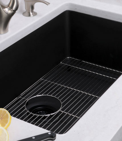 Domain Industries Unveiled Its New Line Of Lexicon Platinum Quartz Sinks.  With Deep Non Porous Sink Bowls, The Quartz Sinks Are Durable,  Easy To Clean, ...