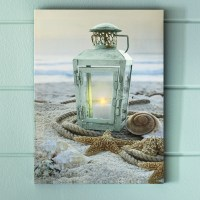 Lit Lantern Canvas | Country Door