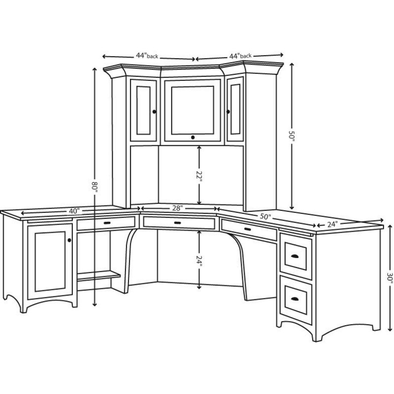 corner desk schematics