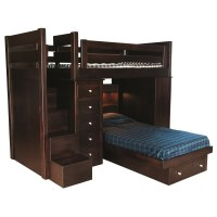 Loft Bed with Step Unit | Amish Made Bunk Bed | Locally ...