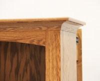 Hidden Gun Storage Bookcase | Amish Gun Cabinet | Oak ...