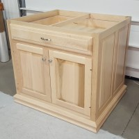 Custom Maple Kitchen Island Base Cabinet| Amish Custom ...