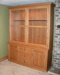 Custom Oak Gun Cabinet - Country Lane Furniture