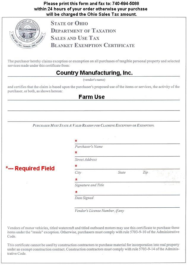 ohio tax exempt form - Peopledavidjoel - tax exemption form