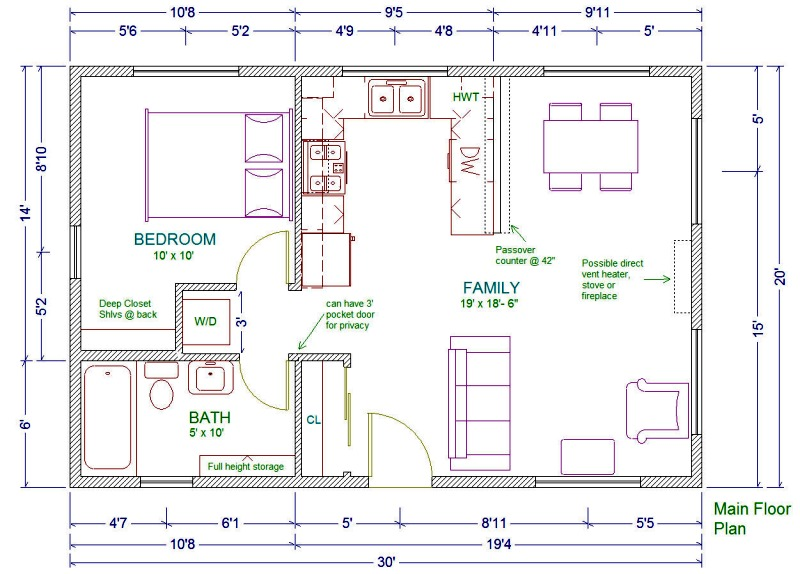 Duplex House Plans For 20x30 Site 20x30 House Floor Plans