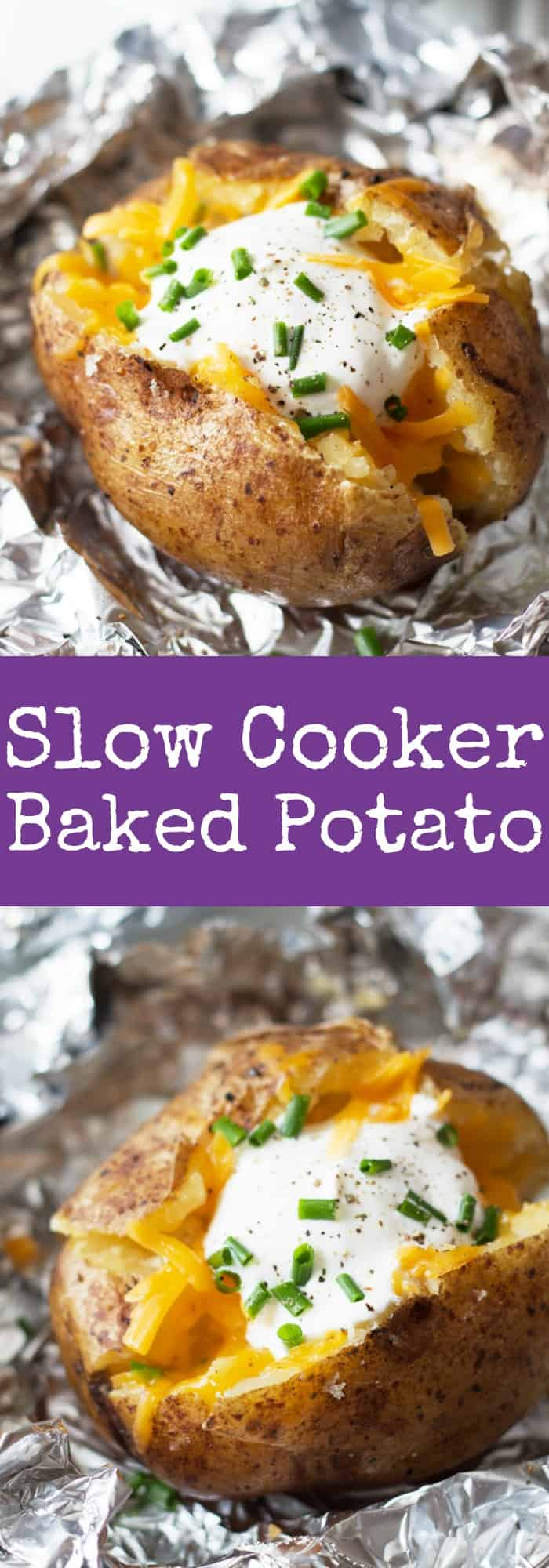 Slow Cooker Baked Potatoes - an easy way to come home to baked ...