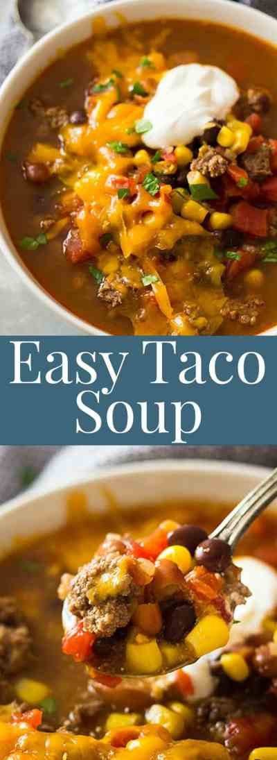Easy Taco Soup   Countryside Cravings