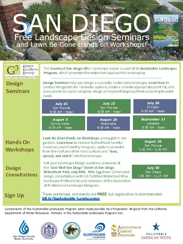 Free Landscape Design Seminar News San Diego County News Center