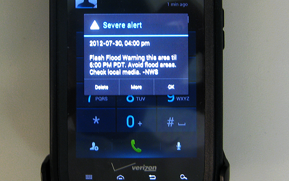 National Cell Phone Alert System Activated for First Time in San
