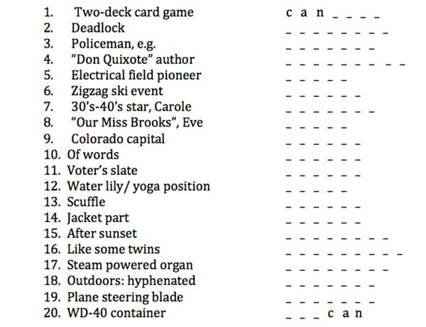Puzzle Pete\u0027s 3-Letter Word Chain