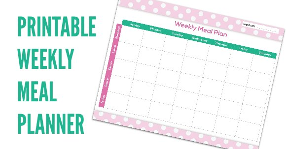 FREE Meal Planning Chart Printable - One Crazy Mom - meal planning template