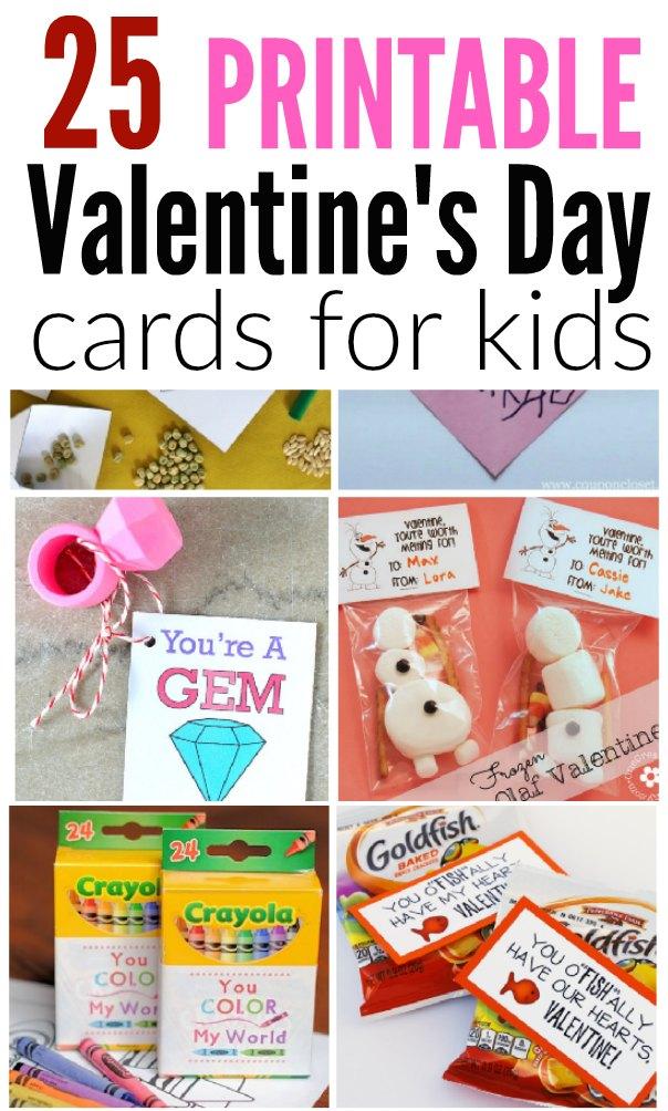 Printable Valentine\u0027s Day Cards for kids - Free Valentine Cards