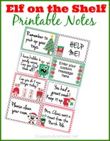 Free Printable Notes From Elf The Shelf