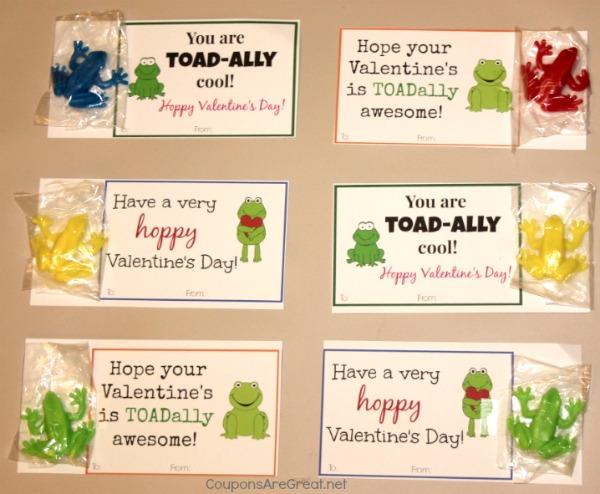 Frog Valentine Cards DIY Printable Valentine Cards - diy printable coupons