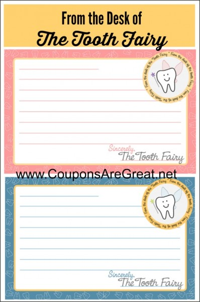 Tooth Fairy Traditions Free Printable Tooth Fairy Letterhead for