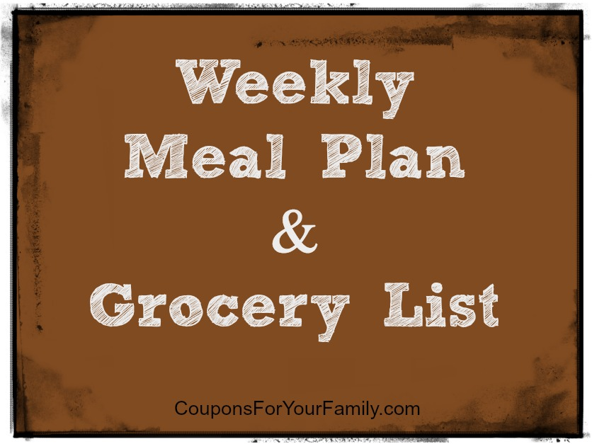 My Weekly Meal Plan and Household/Grocery List Budget Breakdown