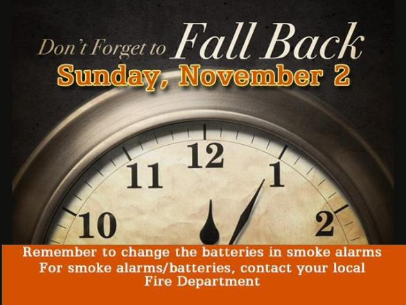 Fall Back 1 Hour - Change Batteries image