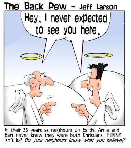 Neighbors in Heaven Comic - Back Pew
