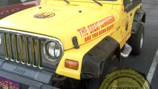 Jesus is my Rock Jeep (Front)