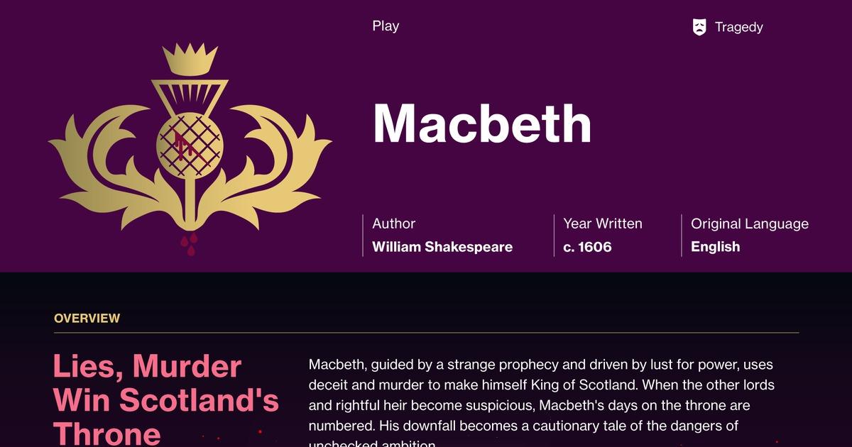 Macbeth Act 5 Scene 8 Summary - Course Hero