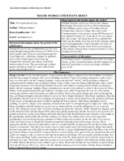 Wuthering Heights MWDS - MAJOR WORKS CITED DATA SHEET 1 ...