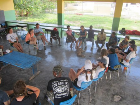 Learning about life in Batey Altagracia