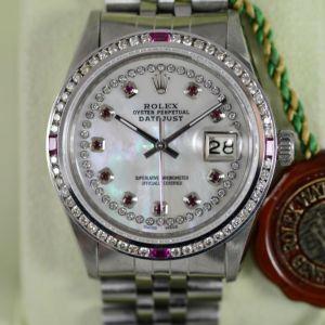 Rolex Datejust Diamanten Rubin Lünette