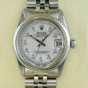 Rolex Datejust Lady31 mit Weissgold Lünette
