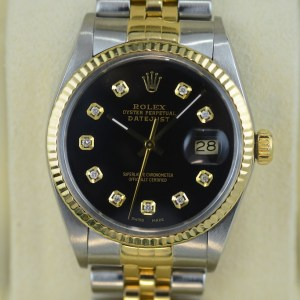 Rolex Datejust in Gold Stahl bicolor mit Diamanten