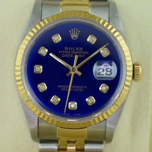Die Rolex oyster perpetual Datejust in 36mm Groesse