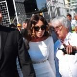 Bernie Ecclestone with President Aliyev and his wife. (photo: Getty)