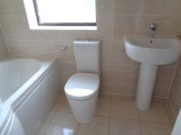 Remove Corner Bath and Fit P Shaped Shower Bath