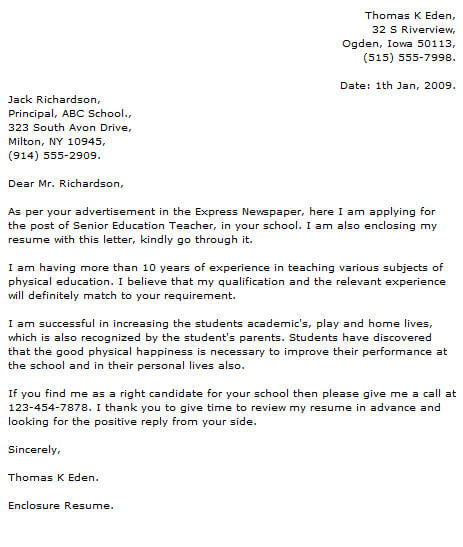 Teacher Cover Letter Examples Cover-Letter-Now