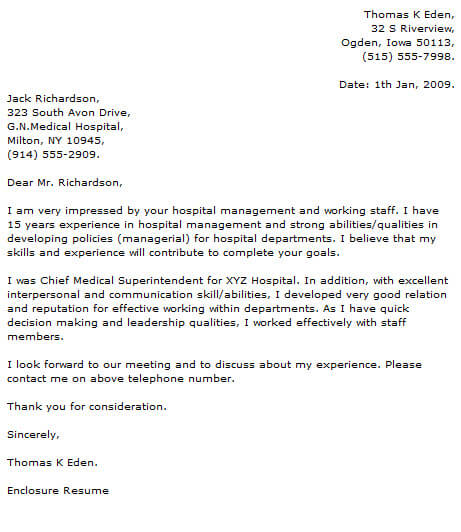Medical Cover Letter Examples Cover-Letter-Now