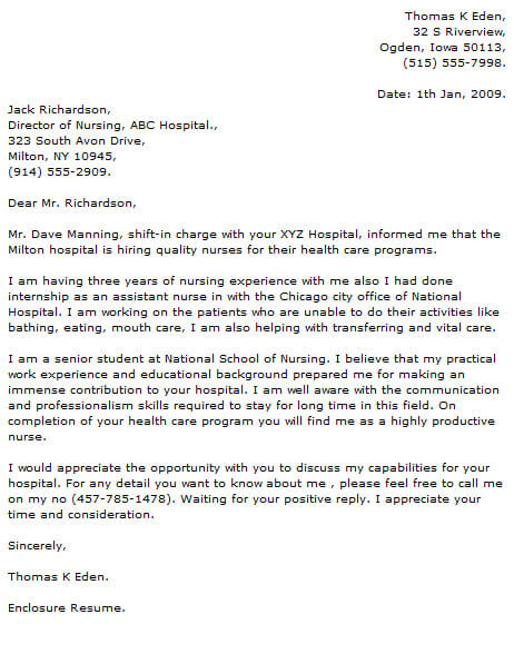 Nursing Cover Letter Examples Cover-Letter-Now