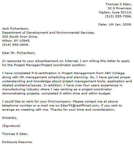 Project Manager Cover Letter Examples Cover-Letter-Now