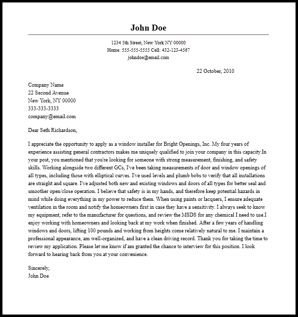 email body for resume and cover letter