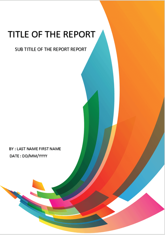 design a cover page